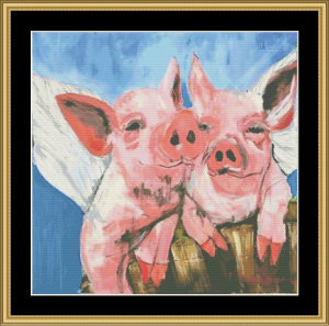 When Pigs Fly | Crafting | Cross-Stitch | Wall Hangings