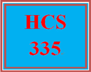 HCS 335 Week 1 Weekly Summary | eBooks | Education
