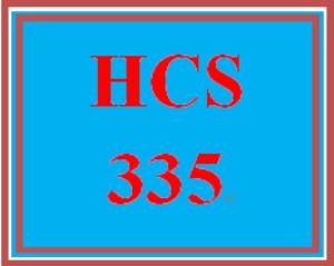 HCS 335 Week 5 Weekly Summary | eBooks | Education