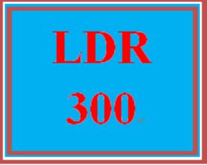 LDR 300 Entire Course   eBooks   Education