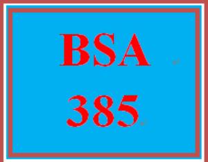 BSA 385 Week 5 Week Five Individual: Weekly Summary | eBooks | Education