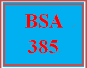 BSA 385 Entire Course | eBooks | Education