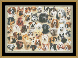 Dogs | Crafting | Cross-Stitch | Wall Hangings