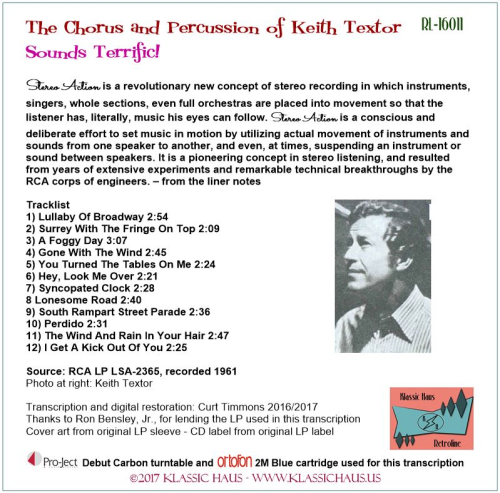 First Additional product image for - The Chorus and Percussion of Keith Textor - Sounds Terrific!