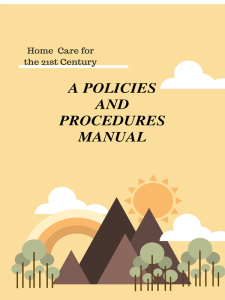 home care policies & procedures manual