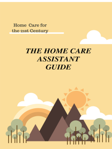 the home care assistant guideemanual