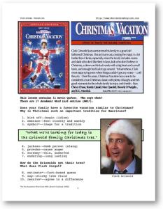 CHRISTMAS VACATION, Whole-Movie English (ESL) Lesson | eBooks | Education