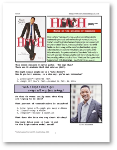 HITCH, Whole-Movie English (ESL) Lesson | eBooks | Education