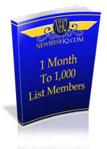 1 Month To 1,000 List Members | eBooks | Internet