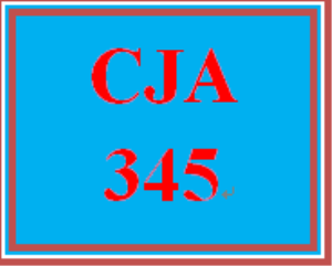 CJA 345 Week 3 Research Proposal Part I | eBooks | Education