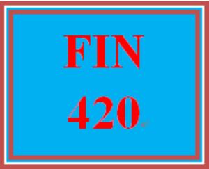 FIN 420 Week 5 Team Scenario Assignment | eBooks | Education