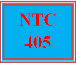 NTC 405 Entire Course | eBooks | Education