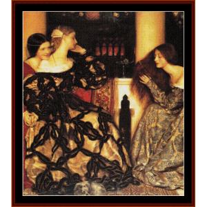 Venetian Ladies - Cowper cross stitch pattern by Cross Stitch Collectibles | Crafting | Cross-Stitch | Wall Hangings