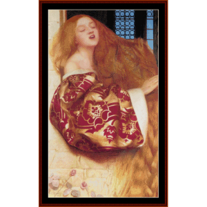rapunzel - cowper cross stitch pattern by cross stitch collectibles