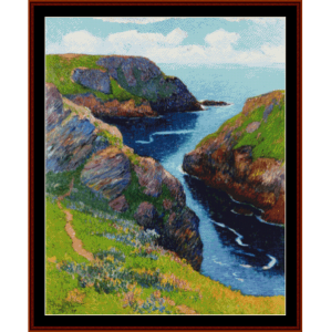 Belle Ile - Moret cross stitch pattern by Cross Stitch Collectibles | Crafting | Cross-Stitch | Wall Hangings