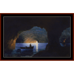The Blue Grotto, 1841 - Aivazovsky cross stitch pattern by Cross Stitch Collectibles | Crafting | Cross-Stitch | Other