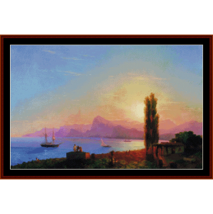 Sunset at Sea, 1856 - Aivazovsky cross stitch pattern by Cross Stitch Collectibles | Crafting | Cross-Stitch | Other