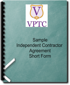 sample independent contractor agreement  - short form