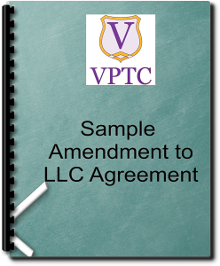 Sample Amendment to LLC Agreement | Documents and Forms | Legal