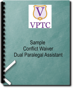 Sample - Conflict Waiver Dual Paralegal Assistant | Documents and Forms | Legal