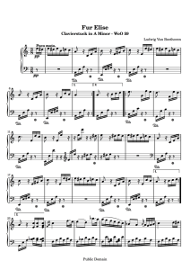 piano music sheets - für elise woo 59 by beethoven