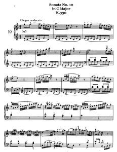 Piano Music Sheets - Sonata No. 10 in C Major k.330 -  Piano by Wolfgang Amadeus Mozart | Music | Classical