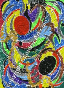 """claude's art:   collection """"papiers froissés"""" dessin # 143 hd"""
