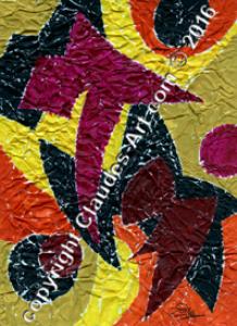 """claude's art:   collection """"papiers froissés"""" dessin # 144 wallpaper"""