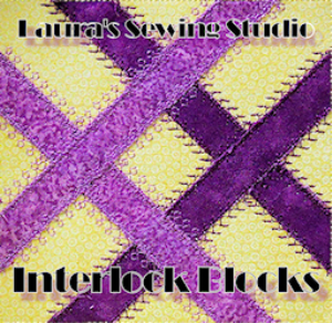 laura's interlock blocks applique hus