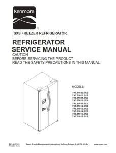 kenmore 795. 51022 51023 51024 51026 51029 (.012 models) service manual