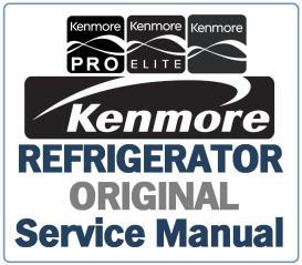 kenmore 795.51822 51823 51829 refrigerator service manual