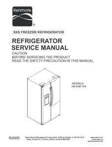 Kenmore 795.51832 51833 51839 refrigerator service manual | eBooks | Technical