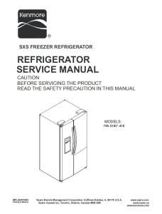 kenmore 795.51832 51833 51839 refrigerator service manual