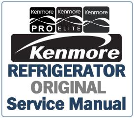 kenmore 795.71093 71092 71099 refrigerator service manual