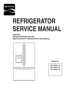 Kenmore 795.72022 72023 72029 refrigerator service manual | eBooks | Technical