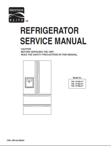 kenmore 795 72182 72183 72189 (.21...models) service manual