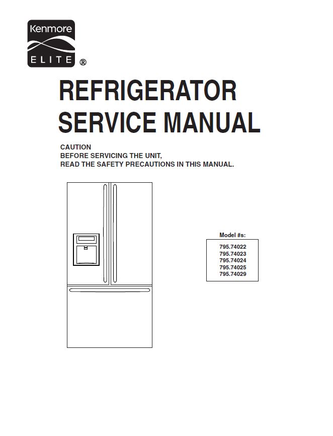 kenmore elite refrigerator manual french door