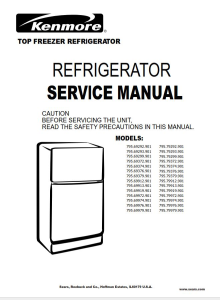 Kenmore 795.79972 79974 79976 79979 (.901 models) refrigerator service manual | eBooks | Technical
