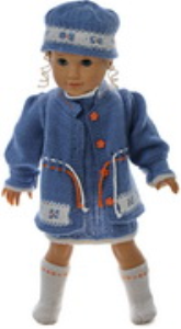 DollKnittingPatterns 0171D LINN KRISTIN - Robe, panty, veste, chapeau et chaussettes/chaussures-(Francais) | Crafting | Knitting | Other
