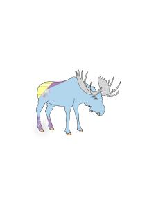 Blue Alaskan moose clip art   Photos and Images   Clip Art