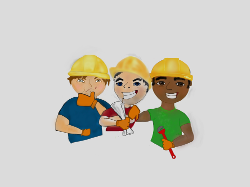 First Additional product image for - Construction workers plumber, engineer, HVAC, mechanical