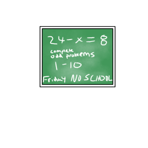 First Additional product image for - School chalkboard math problem