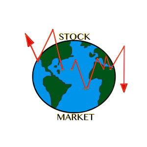 world stock market trending clip art
