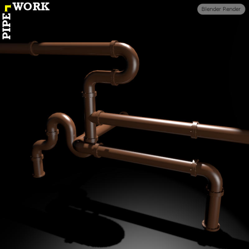 Second Additional product image for - PIPE WORK for Game Dev (BLEND, DAE, FBX, OBJ)