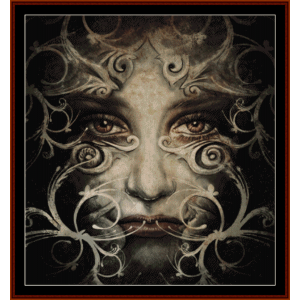 Spirit Woman - Fantasy cross stitch pattern by Cross Stitch Collectibles | Crafting | Cross-Stitch | Wall Hangings