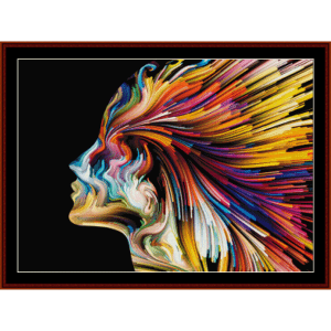 mind painting - fantasy cross stitch pattern by cross stitch collectibles