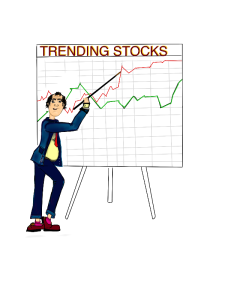 upward trending stock market or company stocks clip art
