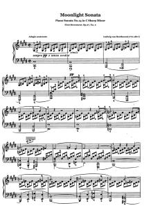 piano sonata no. 14 in c sharp minor 'moonlight sonata' piano by beethoven