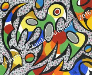 """"""" le petit oiseau des iles"""" : claude's art: dessin # 326 wallpaper"""