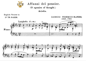 affani del pensier, low voice in c minor. for ass, contralto, g.f.handel, tablet sheet music. a5 (landscape). schirmer (1894)